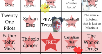 Osheaga Bingo