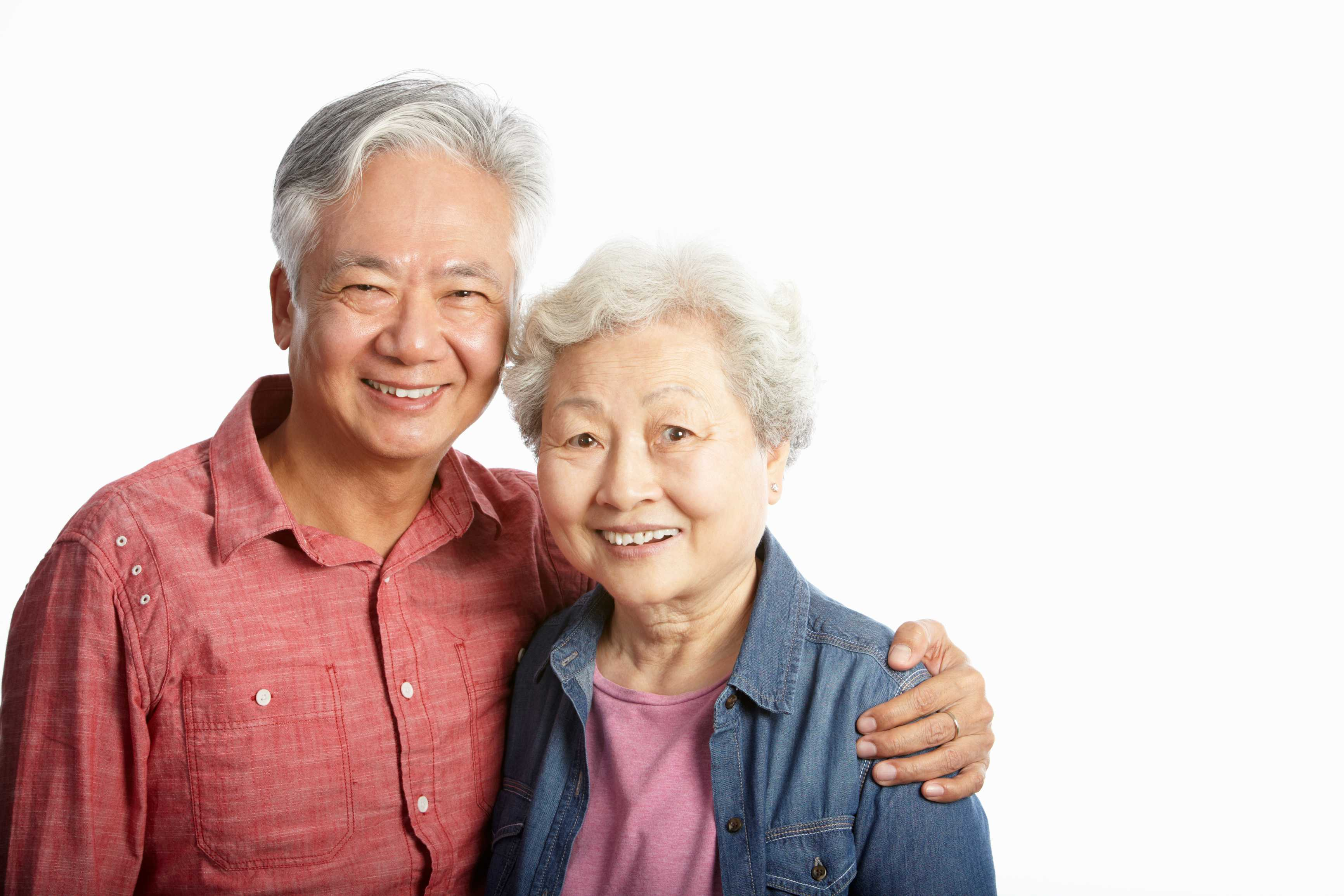 Old asian couple
