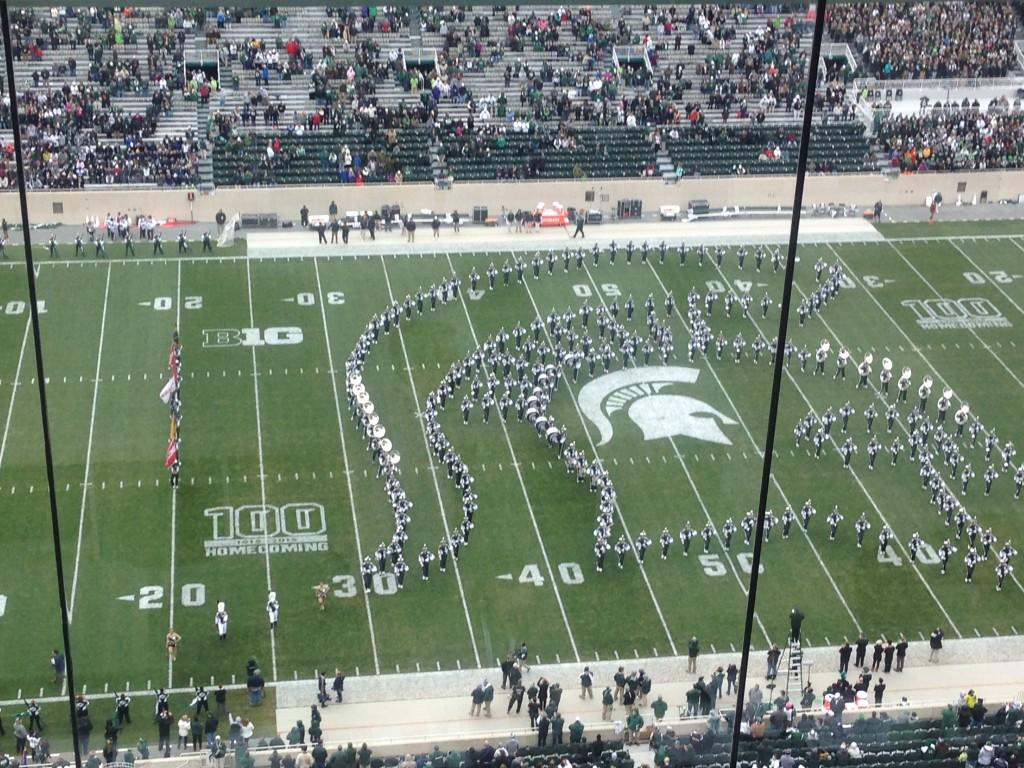 HALFTIME%3A+No.+2+Michigan+State+leads+21-0+in+100th+Homecoming+Game