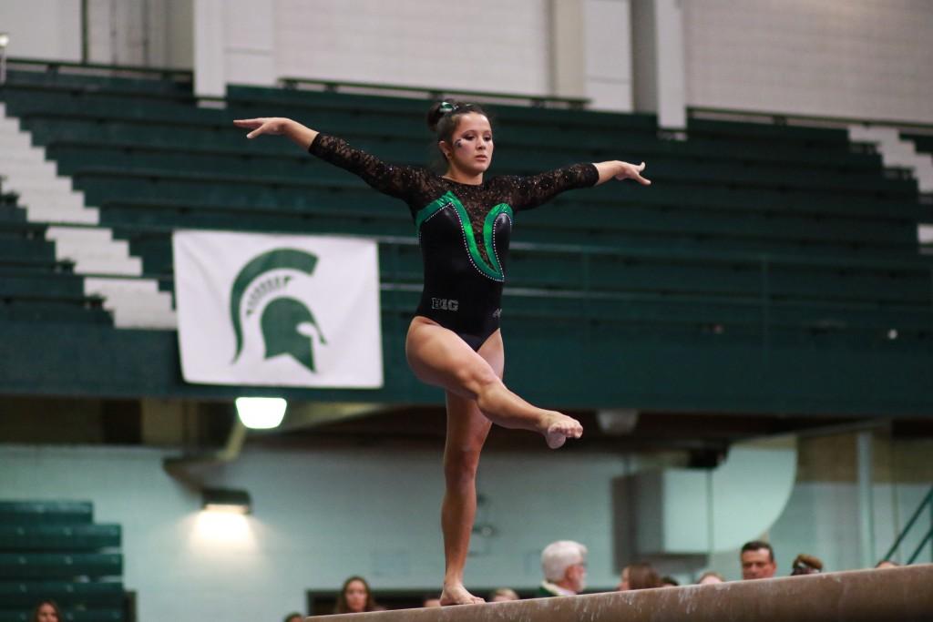 MSU+Gymnastics+Makes+Turning+Point+Of+Season+With+Big+Win