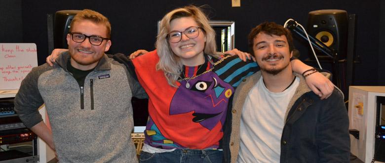 Left to Right: Justin Ralph, Ella Kovacs and Simone Fenzi