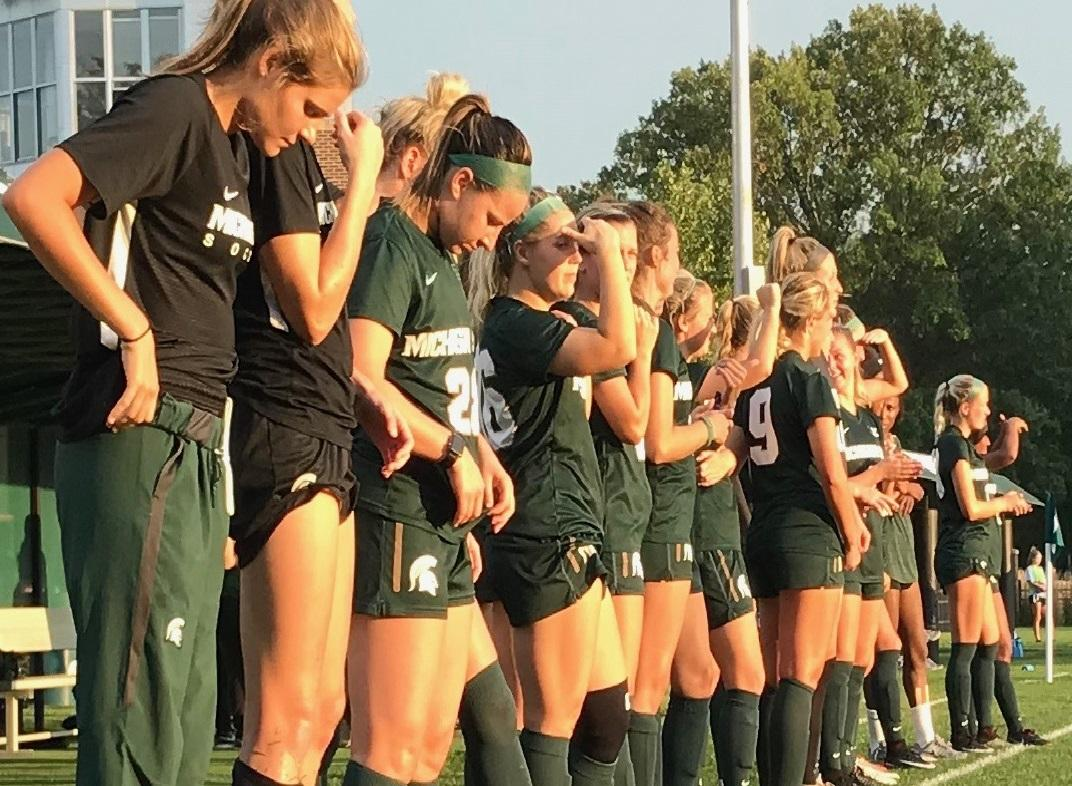 Wahlberg's two goals lead Spartans past Detroit Mercy
