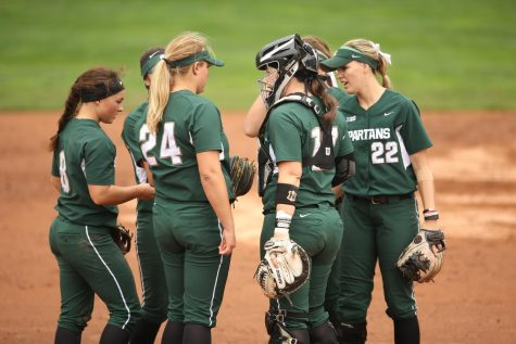 Spartans fall to Badgers in physical battle