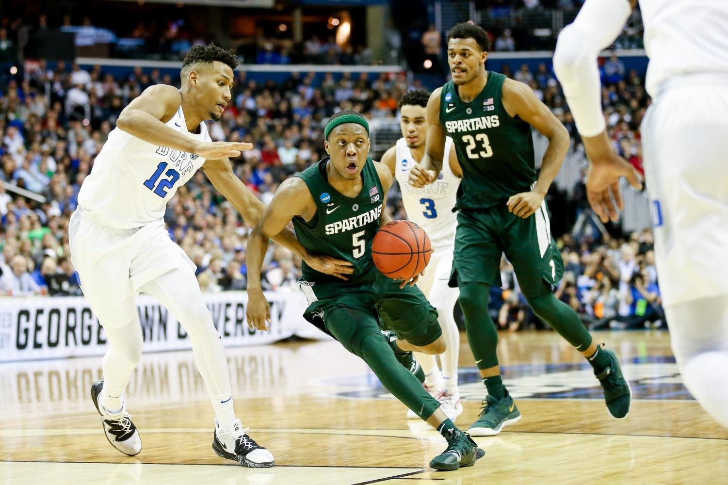 Spartans can't complete comeback, continue road struggles with loss to Indiana