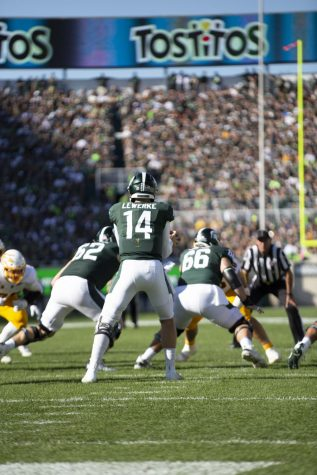 Lewerke steps up big in homecoming victory over Indiana