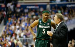 Cassius Winston and Tom Izzo/Photo: MSU Athletic Communications