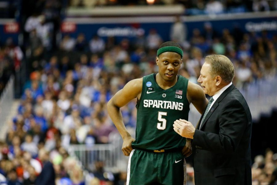 Cassius+Winston+and+Tom+Izzo%2FPhoto%3A+MSU+Athletic+Communications