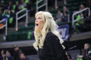 Michigan State coach Suzy Merchant (Photo: Ian Gilmour / WDBM)