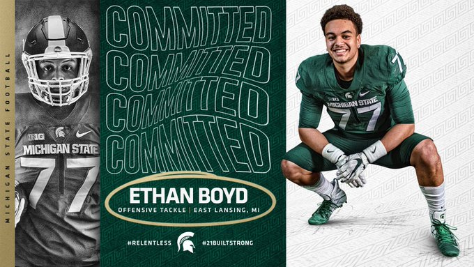 East+Lansing+offensive+linemen+Ethan+Boyd+announced+his+commitment+via+Twitter.+%28Credit%3A+Ethan+Boyd+%2F+Twitter%29