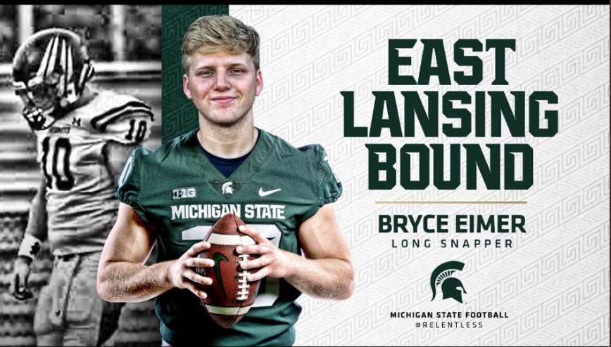 MSU gains commitment from long snapper Bryce Eimer