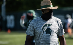 Michigan State head football coach Mel Tucker supervises practice/ Photo Credit: Michigan State Athletic Communications