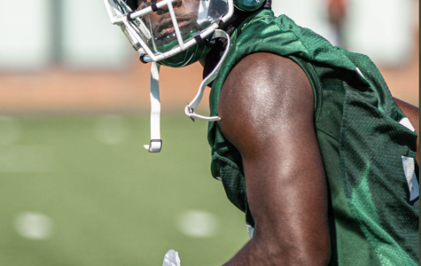 Jayden Reed during practice /Photo Credit: MSU Athletic Communications