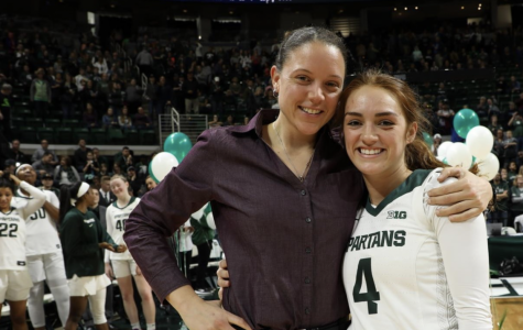 Taryn McCutcheon and MSU assistant coach Kristin Hayne (Photo: MSU Athletic Communications)