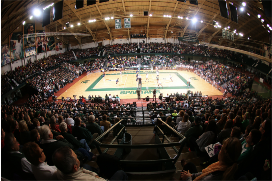 A packed Jenison Fieldhouse/ Photo Credit: MSU Athletic Communications