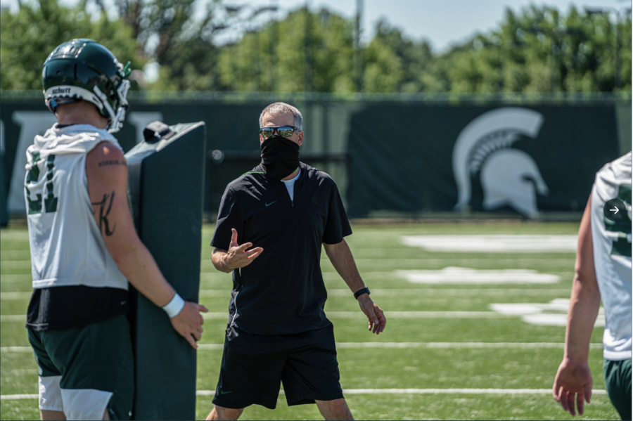 Michigan+State+football+special+teams+coordinator+and+linebackers+coach+Ross+Els%2F+Photo+Credit%3A+MSU+Athletic+Communications