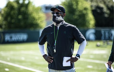 Michigan State cornerbacks coach Harlon Barnett/ Photo Credit: MSU Athletic Communications