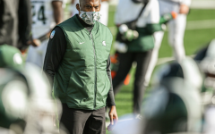 Mel Tucker watches his team before the Michigan game/ Photo Credit: MSU Athletic Communications