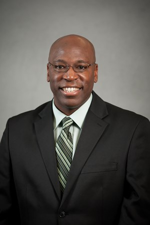 Cornerbacks coach Harlon Barnett (Photo: MSU Athletic Communications)