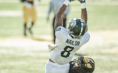 Jalen Nailor leaps for a grab against Michigan/ Photo Credit: MSU Athletic Communications