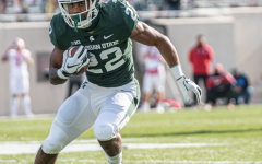 Jordan Simmons makes a cut against Indiana/ Photo Credit: MSU Athletic Communications