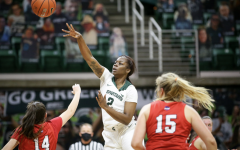 Mardrekia Cook attempts a pass against St. Francis/ Photo Credit: MSU Athletic Communications