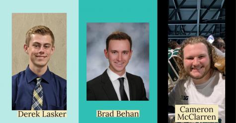 (left to right) Derek Lasker, Brad Behan and Cameron McClarren