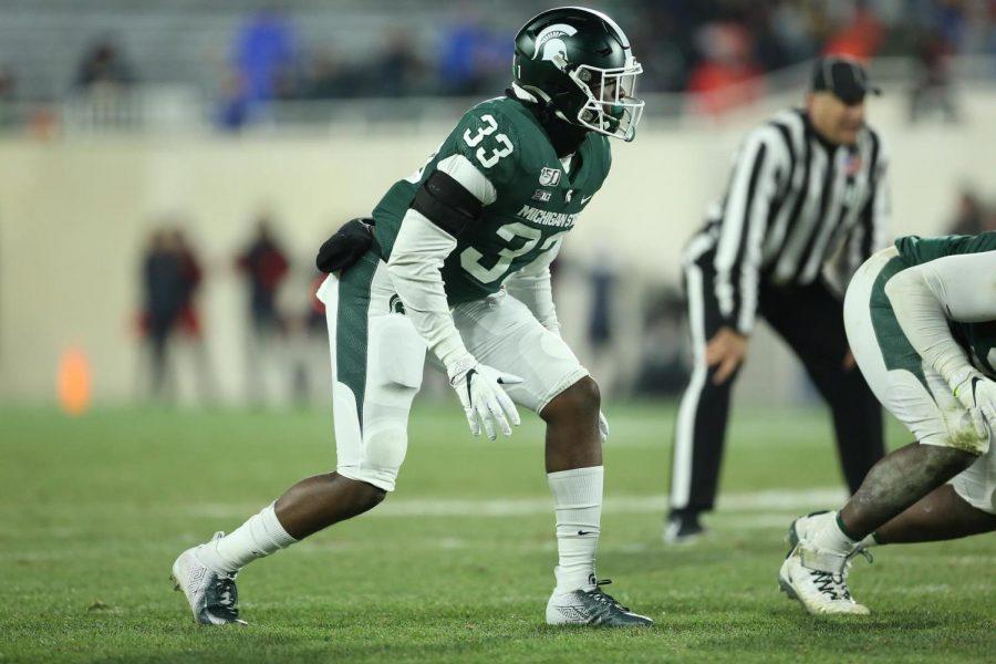 Michigan State linebacker Jeslord Boateng/ Photo Credit: MSU Athletic Communications