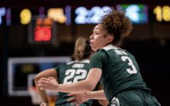 Alyza Winston asks for the ball against Minnesota/ Photo Credit: MSU Athletic Communications