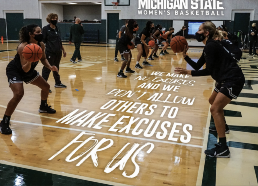 Michigan State practices in preparation for Purdue on Jan. 3/ Photo Credit: MSU Athletic Coommunications