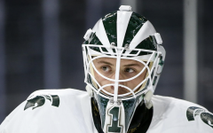 MSU goaltender Drew DeRidder/Photo Credit: MSU Athletic Communications