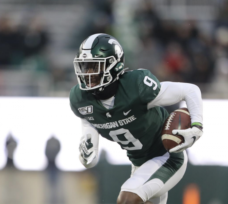 MSU RB Anthony Williams Jr. returns a kick during a game/ Photo Credit: MSU Athletic Communications