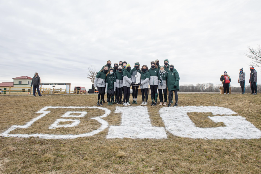 The+MSU+Women%27s+Cross+Country+team+celebrates+after+winning+its+second+Big+Ten+title+in+a+row%2F+Photo+Credit%3A+Chad+Williams+in+conjunction+with+MSU+Athletic+Communications