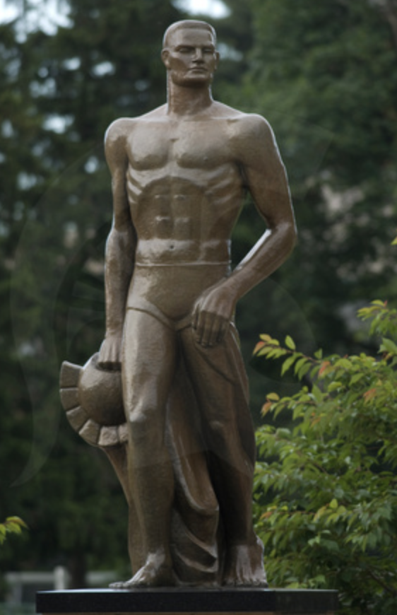 The Spartan Statue/ Photo Credit: MSU University Communications