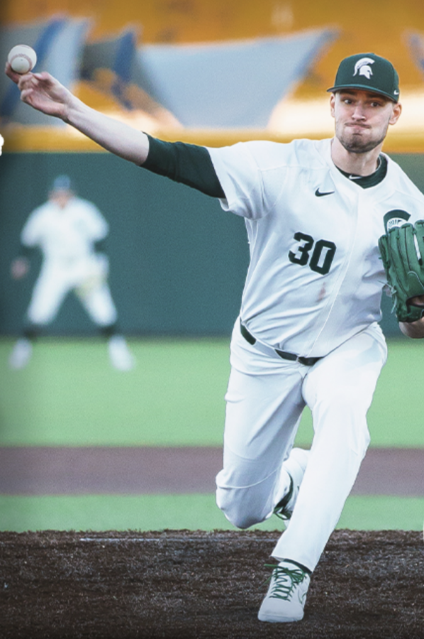 MSU+pitcher+Mason+Erla+delivers+a+pitch%2FPhoto+Credit%3A+MSU+Athletic+Communications%0A