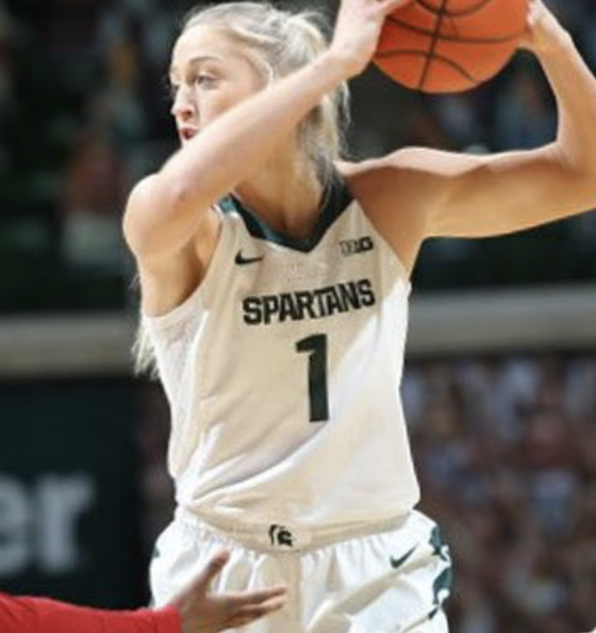 MSU guard Tory Ozment holds the ball against No. 25 Rutgers/ Photo Credit: MSU Athletic Communications