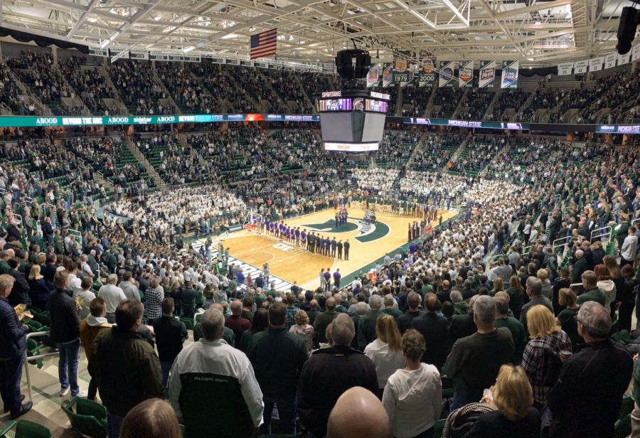 A crowded Breslin Center/ Photo Credit: Ian Gilmour/WDBM
