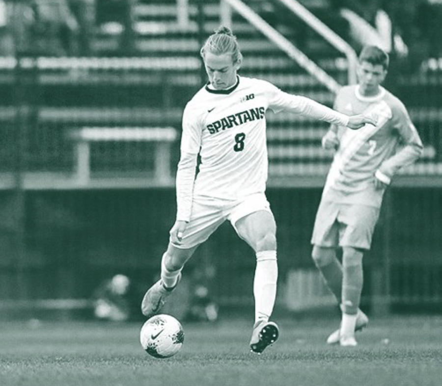 MSU midfielder Alex Shterenberg/ Photo Credit: MSU Athletic Communications