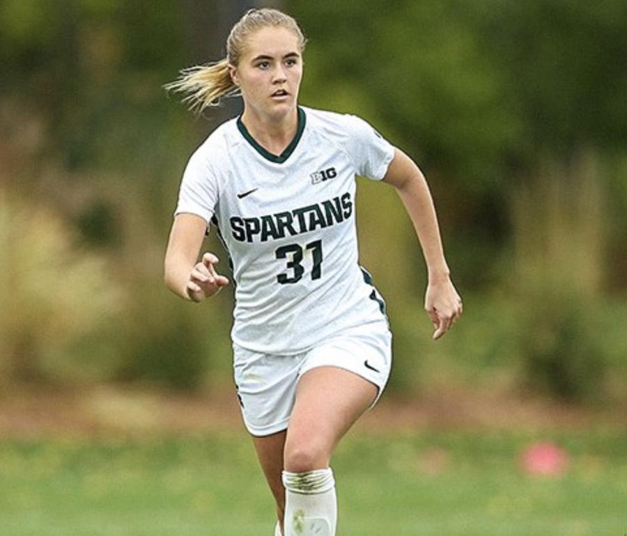 MSU defender Samantha White/ Photo Credit: MSU Athletic Communications