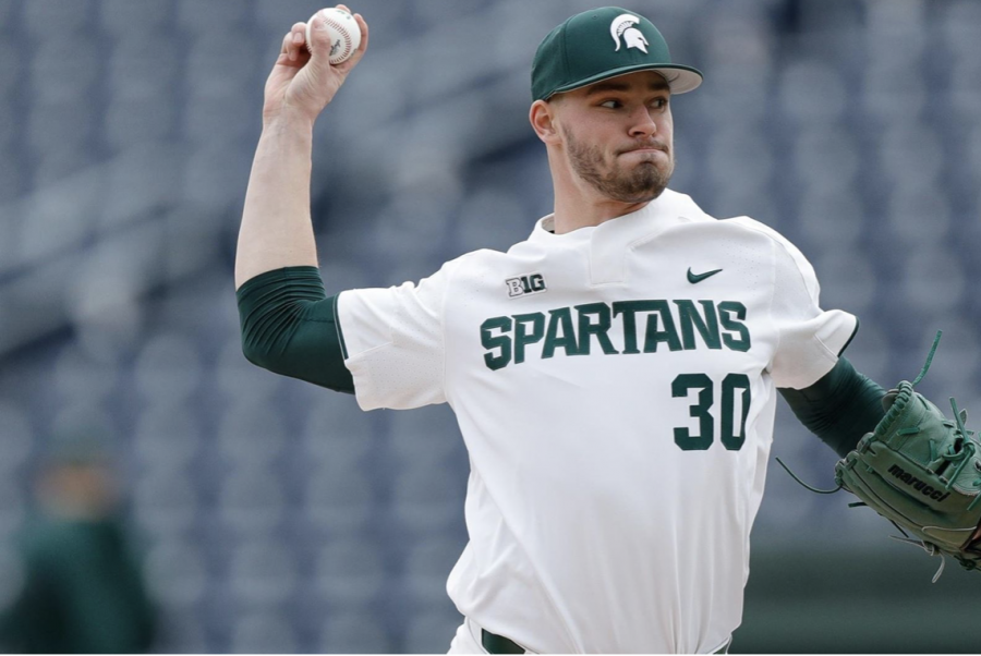 MSU+pitcher+Mason+Erla+delivers+a+pitch+during+a+game%2FPhoto+Credit%3A+Jeremy+Fleming%2F+MSU+Athletic+Communications%0A%0A%0A%0A%0A%0A%0A