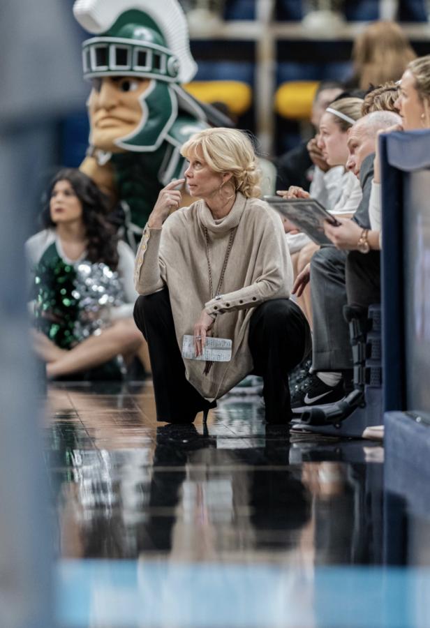 MSU head coach Suzy Merchant/ Photo Credit: MSU Athletic Communications