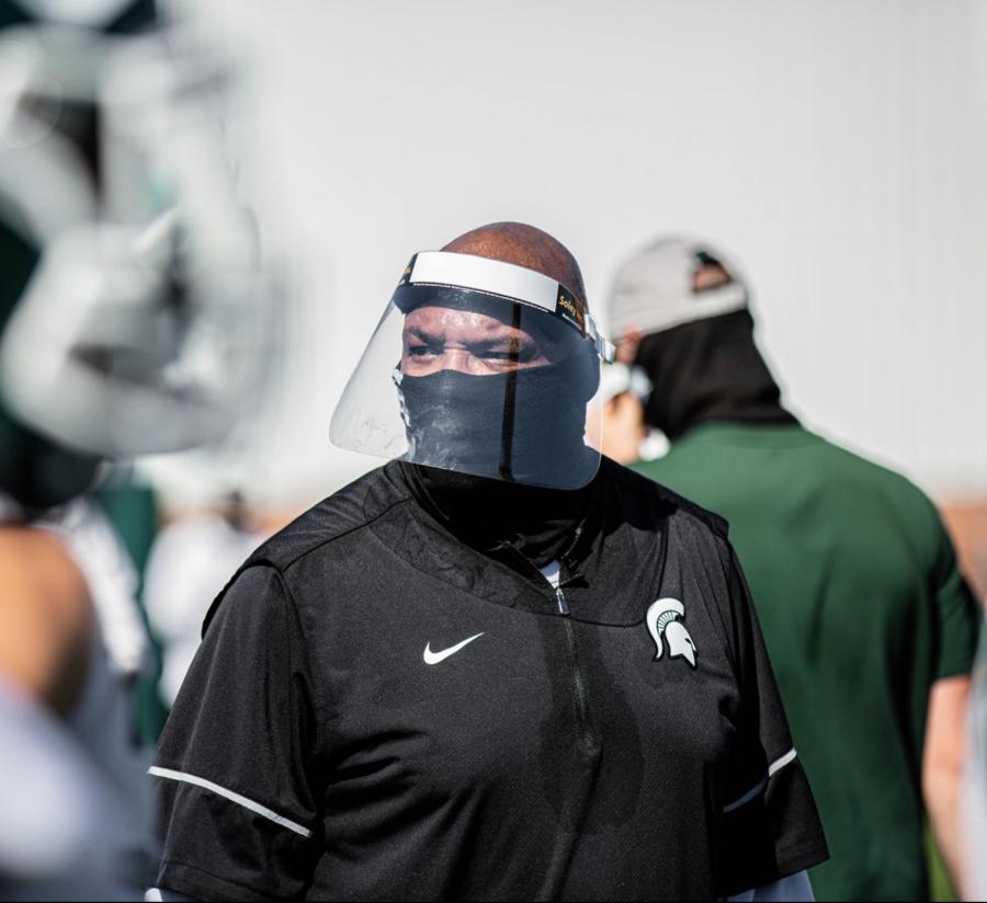 Michigan State defensive line coach Ron Burton/ Photo Credit: MSU Athletic Communications