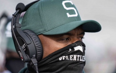 Michigan State Wide Receivers coach Courtney Hawkins/ Photo Credit: MSU Athletic Communications