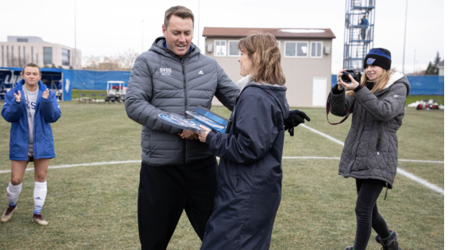 New MSU women's soccer head coach Jeff Hosler during his time at Grand Valley State/ Photo Credit: Grand Valley Athletics