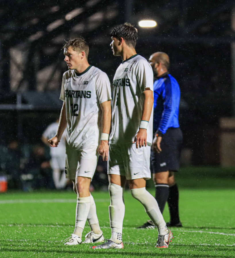 MSU defender Nick Stone in the Spartans 1-0 win on Sept. 21, 2021/ Photo Credit: Sarah Smith/WDBM
