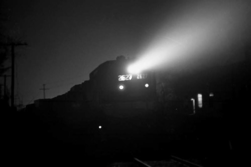 Train at Night, 1974 by Hunter-Desportes is licensed under CC BY 2.0